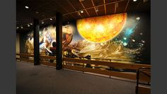 Fully wrapped wall from 3M adhesive vinyl.   Printed and installed by Harmonic Media at the lobby of the Imax movie theater for the Denver Museum of Nature and Science