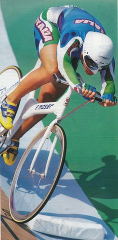 Antonella Bellutti 1996 Atlanta Olympics gold medal riding a F. Moser bike