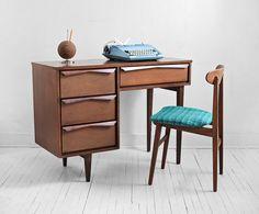 Mid Century Wood Office Desk - Modern