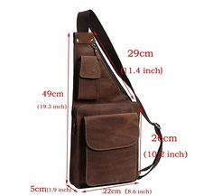 Men's Canvas Unbalance Backpack Shoulder Sling Chest/Hiking Bicycle Bag (CoBackpacks in Bags & Wallets - Etsy MenYou've searched for Backpacks! Tactical Molle Pouch Belt Military Hiking Camp Phone Pocket Waist Fanny Bags New. Saddle Leather, Leather Bag, Leather Jacket, Sacoche Holster, Backpack Bags, Sling Backpack, Denim Backpack, Leather Projects, Leather Working