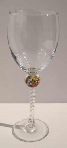 Cool Wine Glass with awesome marble in stem