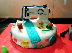Pastel Maquina de coser