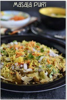 Puri Recipes, Veggie Recipes, Indian Food Recipes, Cooking Recipes, Snacks Recipes, Sandwich Recipes, Bread Recipes, Masala Puri, Dahi Puri