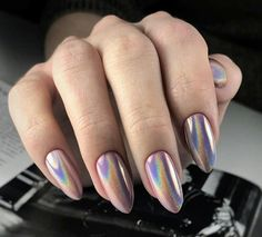 Newest Coffin Acrylic Nail Art Designs 2019 nails; Chrome Nails, Matte Nails, My Nails, Nail Art Designs, Nagellack Trends, Acrylic Nail Art, Nagel Gel, Nail Decorations, Creative Nails