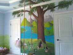 Mural that I painted on my granddaughter's wall.