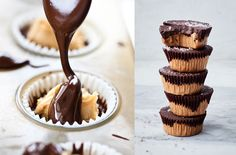 No sugar necessary. Easy Desserts, Delicious Desserts, Dessert Recipes, Candy Recipes, Vegan Desserts, Healthy Peanut Butter, Peanut Butter Cups, Healthy Sweet Treats, Yummy Treats