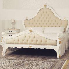 Stanotte concediamoci un #sogno... Quello di risvegliarci in una camera dalle tonalità delicate del bianco e #fogliaoro. Scegli qualità e #stile per rendere unico il tuo #arredo! #simoneguarracino ❤ #styletips #luxury #sconti #fashion  #furniture #furnituredesign #glamour #designer #design #interior #interiordesign #home #homeliving #gold #bed #bedroom