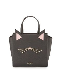 jazz+things+up+hayden+small+cat+tote+bag,+black+by+kate+spade+new+york+at+Neiman+Marcus.