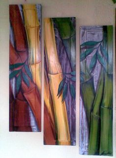 Pintura em madeira Pallet Painting, Painting On Wood, Painting & Drawing, Mixed Media Painting, Silk Painting, 3 Piece Art, Acrylic Painting Inspiration, Arte Country, Patterns In Nature
