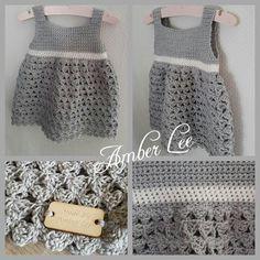 Ik heb dit jurkje voor mijn dochter gemaakt en ik ben echt heel erg blij met het resultaat!! Na veel enthousiasme op facebook heb ik beslo... Crochet Bebe, Crochet For Kids, Diy Crochet, Crochet Top, Sewing Paterns, Knit Patterns, Baby Patterns, Baby Kids Clothes, Doll Clothes