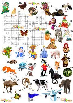 """Кроссворды для детей """"36 разных слов"""""""