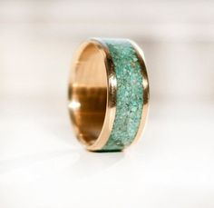 green and gold groom band