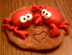 *POLYMER CLAY FIGURINE ~ I'm Crabby Without You, Cake Topper.