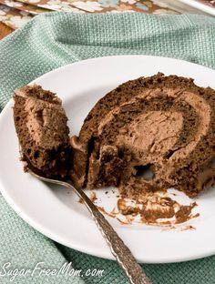 Low Carb Chocolate Tiramisu Cake Roll tiramisu cake of cake of Chocolate Tiramisu, Tiramisu Dessert, Low Carb Chocolate, Sugar Free Chocolate, Chocolate Flavors, Chocolate Roll, Low Carb Deserts, Low Carb Sweets, Diabetic Deserts