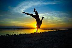Enjoying the sunset at Gili Trawangan Island