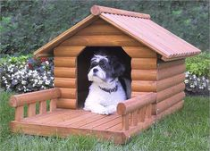 Newest Images 30 Dog House Decoration Ideas, Bright Accents for Backyard Designs , Style A secure place for your dog A dog kennel is a good choice to offer your pets secure exit throughout Dog House With Porch, Large Dog House, Build A Dog House, Dog House Plans, House Dog, House Building, Canis, Expensive Dogs, Wood Dog