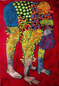 "Saatchi Art Artist: Gustavo Ortiz; Paper 2014 Collage ""self-portrait in desguise III"" #art http://magazine.saatchiart.com/articles/artnews/saatchi-art-news/one-to-watch/gustavo-ortiz"