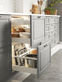 Kitchen Room Design, Modern Kitchen Design, Home Decor Kitchen, Interior Design Kitchen, Kitchen Furniture, Home Kitchens, Ikea Kitchens, Rustic Kitchen, Kitchen Designs
