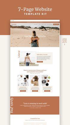 This Pursue Squarespace Website Design Template Kit is for b Layout Design, Website Design Layout, Page Design, Website Designs, Portfolio Website Design, Portfolio Book, Design Logo, Blog Layout, Blog Designs