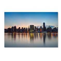 Midtown NYC Over the East River I by David Ayash Photographic Print on Wrapped Canvas
