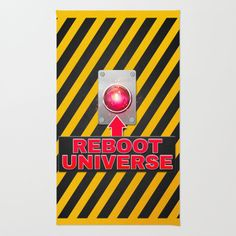 #society6 #throwrug #floors #home #decor #dorm #reboot #restart #do-over #universe #space #time #scifi #button #cosmic #petergross