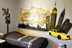 décoration chambre new york