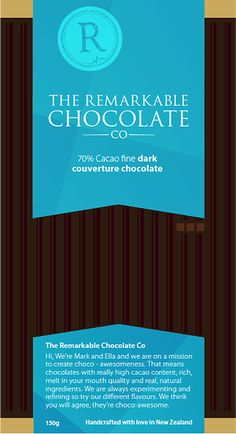 My favourite dark choccy from The Remarkable Chocolate Company
