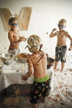 Food Fight like in the movies! It'd be great