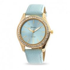 Light Blue Leather Fashion Watch