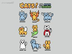 Cats of Myth and Legend for $11 - $14