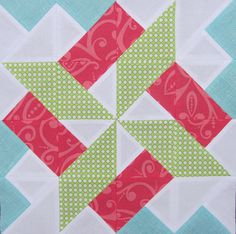3 x 6 bee - Pinwheel hive: kritta22's (Krista) block | Flickr - Photo Sharing! Pattern: Starry Skyline by from blank pages