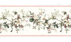Floral Borders : 52233 VCO Floral Wallpaper Border