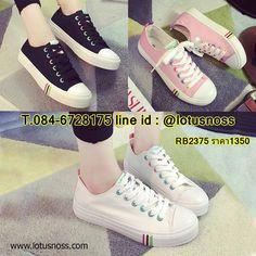 รองเท้าผ้าใบส้นหนา แฟชั่นเกาหลีแนวผู้หญิงสวมสีหวานใหม่ล่าสุด นำเข้า ไซส์...