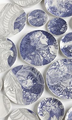 Molly Hatch Ceramics -Ceramic art for the wall. Molly Hatch Ceramics -Ceramic art for the wall. Painted Ceramic Plates, Hand Painted Ceramics, Ceramic Painting, Ceramic Pottery, Ceramic Art, Decorative Plates, New Blue, Blue And White China, Cerámica Ideas