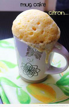 Mug cake au citron Bonjour à tous… Il y a des jours ou on a des envies subites de sucré..quand ça m'arrive ces jours là je me tourne en gé...