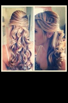 Prom hair :) ******* With Curl up under the criss cross
