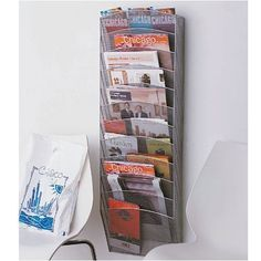 Design Ideas Mesh Wall Pockets, Silver Organize magazine, files, and mail in the 12 separate pockets of this wall magazine rack! This wall magazine holder's Gift Bag Organization, Magazine Organization, Studio Organization, Waiting Room Design, Jewelry Organizer Drawer, Kid Essentials, Music Crafts, Magazine Holders, Magazine Racks