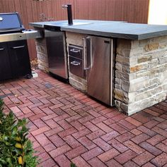 Kitchen Island Kegerator small barbecue island with kegerator | for the hubby | pinterest