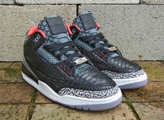 Air Jordan III Black Python for Wale by JBF Customs
