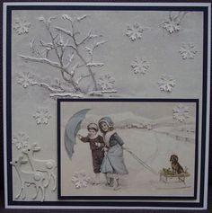 Voorbeeldkaart - Kerst - Categorie: Scrappen - Hobbyjournaal uw hobby website