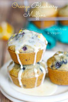 Orange Blueberry Muffins (Gluten Free Vegan)