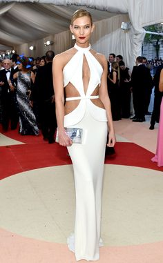 Karlie Kloss from Met Gala 2016: Best Dressed Stars  Besides the fact that the model looked flawless, and the white dress hugged her in all the right places, her clutch literally lit up!