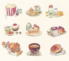 Foods illustration