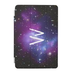 Monogrammed Purple Galaxy Cluster iPad Mini Cover
