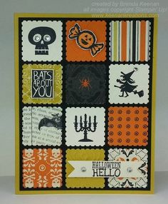 Halloween Card created with Stampin' Up! Postage Stamp punch!   from Brenda Keenan  13OCT2013