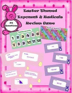 Covers Questions on the following topics: *Exponents (multiplication ...