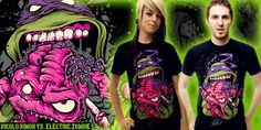 """""""ELECTRIC ZOMBIE - Don Of The Dead"""" t-shirt design by NICOLO NIMOR"""