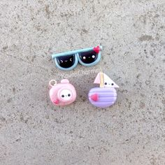 #kawaii #charms #polymer #clay #sunglasses #boat