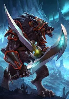 World of Warcraft Photo: Warcraft Warrior Fantasy Creatures, Mythical Creatures, World Of Warcraft 3, World Of Warcraft Characters, Warcraft Game, Beast, Werewolf Art, Heroes Of The Storm, Creature Concept Art
