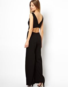 ASOS Jumpsuit With Wide Leg and Cut Out Back